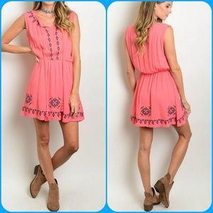 Dresses & Skirts - Embroidered Boho Hippie tassel festival Dress